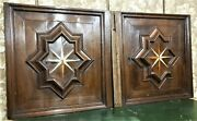 Pair 17 Th C Star Marquetry Panel Door Antique French Architectural Salvage