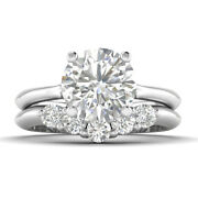1.4ct E-si2 Diamond Vintage Engagement Ring 14k White Gold Any Size