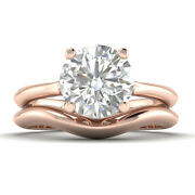 1ct G-si1 Diamond Vintage Engagement Ring 18k Rose Gold Any Size