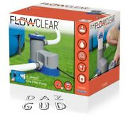 New Bestway Flowclear 1500 Gph Filter Pump - Above Ground Swimming Pool In Hand