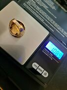 Edward 1909 Half Sovereign Ring. Coin 22ct Gold Ring 9ct. 10.90 Grams Total.