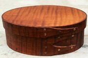 Tiger Maple Shaker Oval Box---size 1