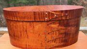 Large Tiger Maple Shaker Oval Box ----size 7