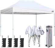 Eurmax 8'x12' Ez Pop Up Canopy Tent Commercial Instant Canopies With Heavy Duty