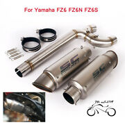 Slip For Yamaha Fz6 Fz6n Fz6s Exhaust Escape Tips Mid Link Pipe Modified System