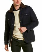 Brunello Cucinelli Quilted Wool Silk And Cashmere-blend Coat Menand039s