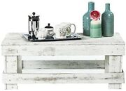 Rustic Coffee Table Reclaimed Wood Modern Farmhouse Furniture Distressed White