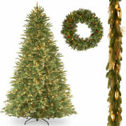 12and039 Fir Slim Hinged Tree With 6and039 X 12 Decorative Collection Elegance...