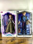 """Disney Store Anna And Kristoff Limited Edition 17"""" Frozen Dolls - Pre-owned"""