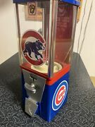 Vintage Older Chicago Cubs Candy/peanut Not Gumball Machine Super Cool