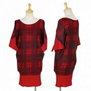 Pleats Please Check Print Dolman Tunic Red Position Used Women And039s/28t175