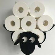 Sheep Toilet Paper Roll Holder Bathroom Wall Mounted Metal Rack Hold Up 7 Rolls
