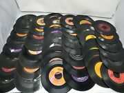 Mixed Lot Of 50 1950-90s Rock/ Pop/oldies/country 45 Rpm Records All Genres