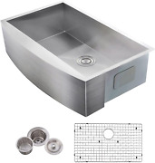 Vccucine Farmhouse Sinkcommercial Brushed 30andrdquo Undermount Drop-in Single Bowl Ba