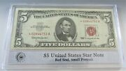 1963 5 United States Star Note Red Seal In Pcs Stamps And Coins Holder