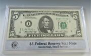 1974 5 Federal Reserve Star Note Minneapolis I  In Pcs Stamps And Coins Holder