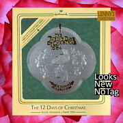 Hallmark Ornament 1984 Partridge In A Pear Tree The Twelve 12 Days Of Christmas