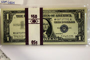 50 Small Size 1957-b 1 Silver Certificates Consec. Numbers Grades Cu Num6028
