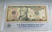 2006 10 Federal Reserve Star Note B In Pcs Stamps And Coins Holder