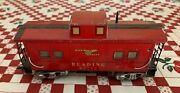 Vintage Marx Toy Train Red Caboose 3556 Mar Lines Reading 92812