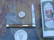 Great Eastern Gec Antique Chestnut Wood Stainless Fruit Knife Rare Mit 892121