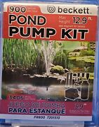 Beckett Fr800 900 Gph Submersible Pond Pump Kit With Prefilter And Nozzles
