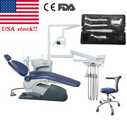 Dental Unit Chair Computer Controlled Hard Leather + Chair Stools /handpiece Kit