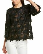 St. John Guipure Silk-lined Lace Top Womenand039s