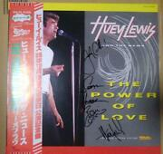 Huey Lewis The News Autographed Vinyl Records