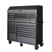 Husky Heavy Duty Tool Chest Cabinet Set 56 In. 23 Soft-close Drawer Matte Black