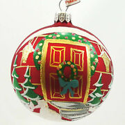 Holiday Ornament Christmas Red Door Blown Glass First Christmas Home Gceo193