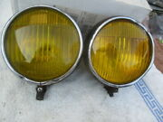 1933-1937 Guide 5 3/4 Fog Lights With Partial Mounting Brackets