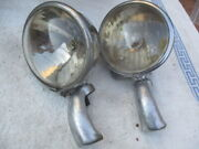 1934-1938 Fog King Road-fog Lights With Mounting Brackets. Cord Ford Etc