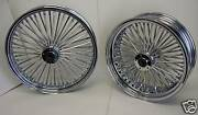 Dna Chrome Mammoth 52 Fat Spoke Wheel Set 21x3.5 And 16x3.5 W/ Rotors And Pulley Abs
