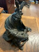 Antique Carl Kauba American Indian Bronze/metal Sculpture With Free Shipping