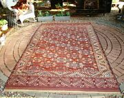 Antique Yomud Turkmen Room Size Rug 6x10 Shabby Chic Cabin Or Library/study Room