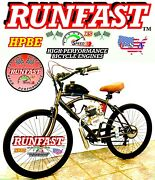 Complete Diy 2-stroke 66cc/80cc Motorized Bike Kit And Cruiser Bicycle Power