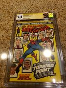 Amazing Spiderman 121 9.4 Cgc Graded White Pages 6/73 Signed By Gerry...