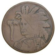British Cent Hobo Nickel Native American Carved Coin 2102