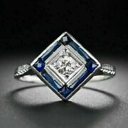 14k White Gold Over 1.1 Ct Diamond Sweeping And Scrolling Art Nouveau Vintage Ring