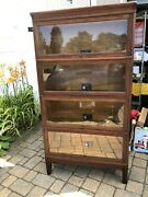 Antique Barrister Lawyers Bookcase Oak Viking 930 Ax 11 1/8 Book Unit Stackable