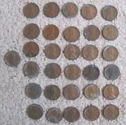 Lot Of 31 Lincoln Wheat Pennies Each Penny From 1940s - 1950s Incl 1944s As Is