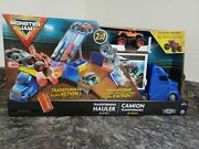 Monster Jam Official 2-in-1 Transforming Hauler Playset With Exclusive 164 New