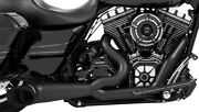 Harley Davidson Flh 1995-16 Freedom 2-into-1 Turnout Exhaust Pitch Black Hd00511