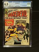 🔥daredevil 3 Cgc 6.5 1st Appearance Of The Owl 1964 Off White White Pages
