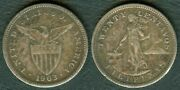 20 Centavos 1903 Us Philippine United States Of America Silver Coin Phb2