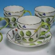 Royal Worcester Bone China - The Blind Earl - 7 Demitasse Cups And 1 Saucer