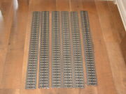 6 Mth Rail King Realtrax 30 Inch Straight Track - O Scale - Solid Rail