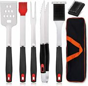 Bbq Grill Accessories Set Of 7 Stainless Steel Grilling Tools Set With Storage