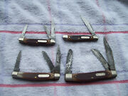 4 Schrade Ny Old Timer Usa Knives Big Stockman Stockman Peanut Middleman Used